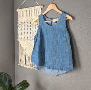 Universal Thread Chambray Tank Top NWT